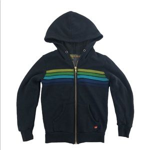 Aviator Nation Kids 5 Stripe Hoodie sz 8